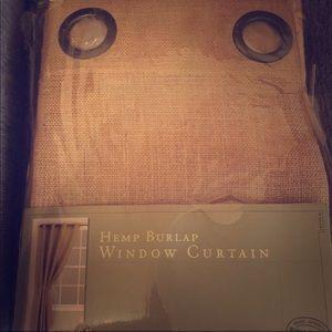 Hemp burlap window curtains